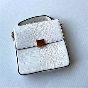 Faux crocodile squared purse